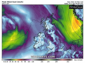 uk and europe daily weather forecast latest march 24 cloudy in south of the uk with light rain or drizzle