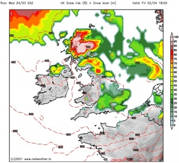 uk and europe daily weather forecast latest march 26 windy with blustery showers spreading southeast behind a band of more general rain