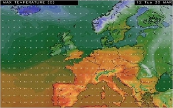 uk and europe daily weather forecast latest march 27 outbreaks of drizzle and low cloud affect hills of southern england and wales