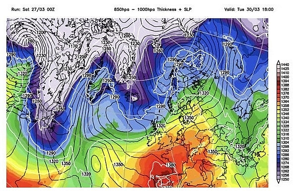 UK and Europe daily weather forecast latest, March 29: Cloudy weather with hill fog and some drizzle in the west