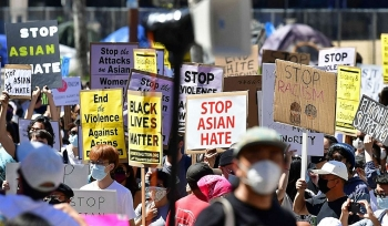 asian american attacks rallies protesters against racially motivated violence witness widespread participation