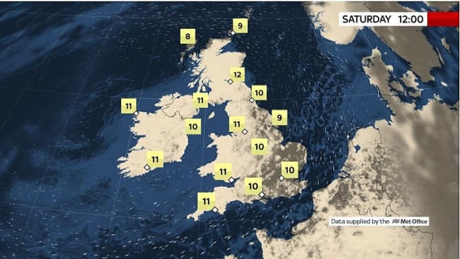 UK and Europe daily weather forecast latest, April 3: Largely settled and dry conditions with plenty of sunshine in the UK
