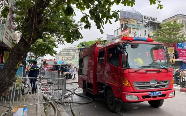 Four family members killed as fire engulfs baby store in Hanoi, including child and pregnant woman