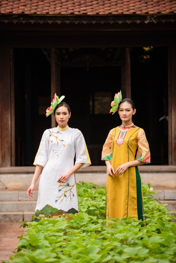 Ao Dai designers present new collections with silk, ramie at fashion event