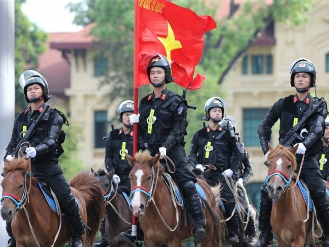 Vietnam's cavalry mobile police force makes debut