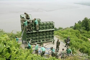 pyongyang reinstalls propaganda loudspeakers along inter korean border