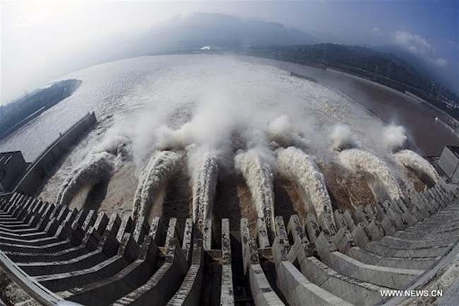 The full of water reservoir of China