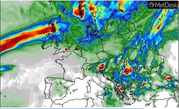 uk and europe weather forecast july 7 sunshine before torrential rain