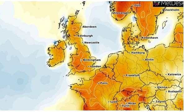latest uk and europe weather forecast july 12 heatwave returns to bake britain uv warning