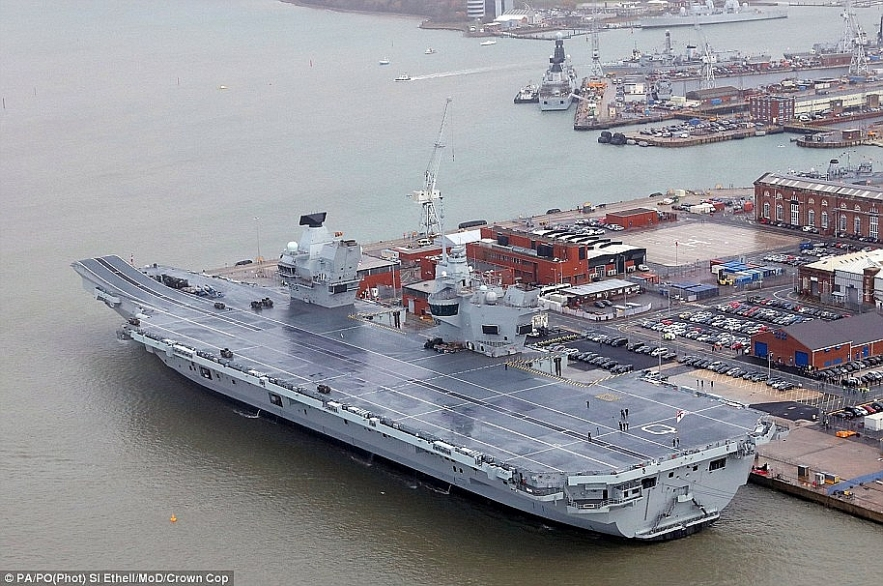 hms queen elizabeth ship pivots to east asia to confront china