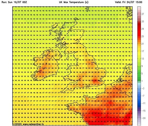 uk and europe weather forecast july 21 searing temperature continues before thundery downpours in europe