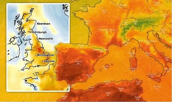 UK and Europe weather forecast latest, July 26: Thunderstorm to battle UK while map turns RED for Europe