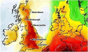 uk and europe weather forecast latest july 28 next summer heatwave is on the way to make map turn red
