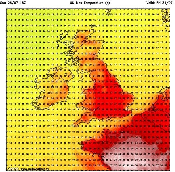 uk and europe weather forecast latest july 28 next summer heatwave is on the way to make the weather map turn red