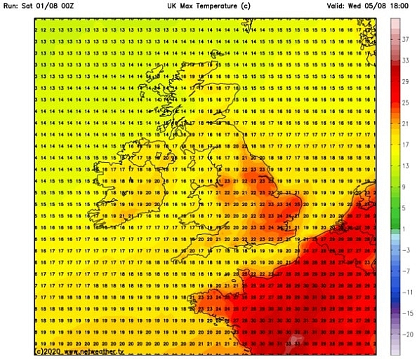 UK and Europe weather forecast latest, August 3: Heatwave to return to Britain with temperatures rising to 35C