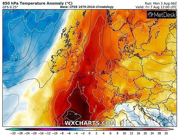 UK and Europe weather forecast latest, August 5: Scorching to bake Britain with the high 30s temperatures