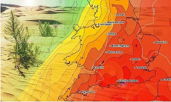 uk and europe weather forecast latest august 7 hot makes chart turn red across the uk europe