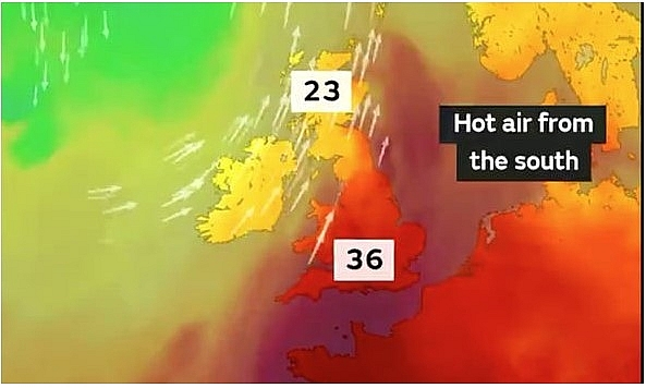 uk and europe weather forecast latest august 7 hot weather makes chart turn red across the uk and europe