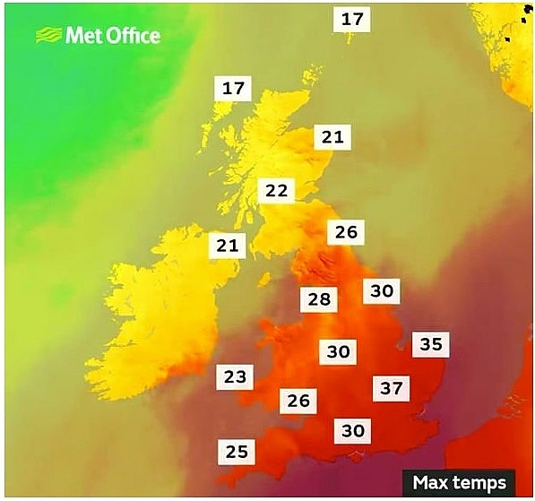 UK and Europe weather forecast latest, August 8: Heat-health warnings for the EK as hot weather to bake Europe