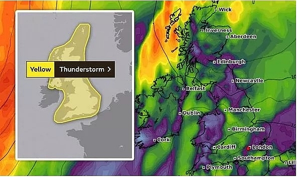 UK and Europe weather forecast latest, August 9: Yellow warnings for thunderstorm across the UK