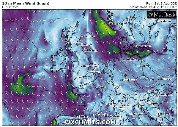 uk and europe weather forecast latest august 10 thunderstorm to battle uk before scorching