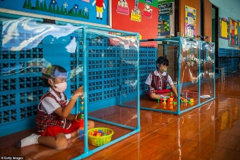 how nursery children in thailand keep strictest social distancing during covid 19