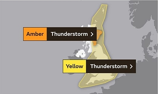 uk and europe weather forecast latest august 13 upgraded warnings for thunderstorm as danger to life to battle uk