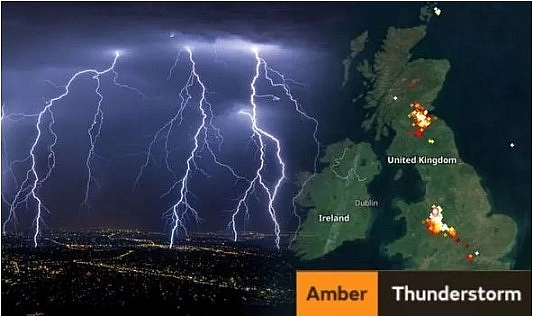 UK and Europe weather forecast latest, August 13: Upgraded warnings for thunderstorm as