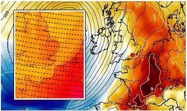 uk and europe weather forecast latest august 22 storm ellen reintroduces robust heatwave back to europe