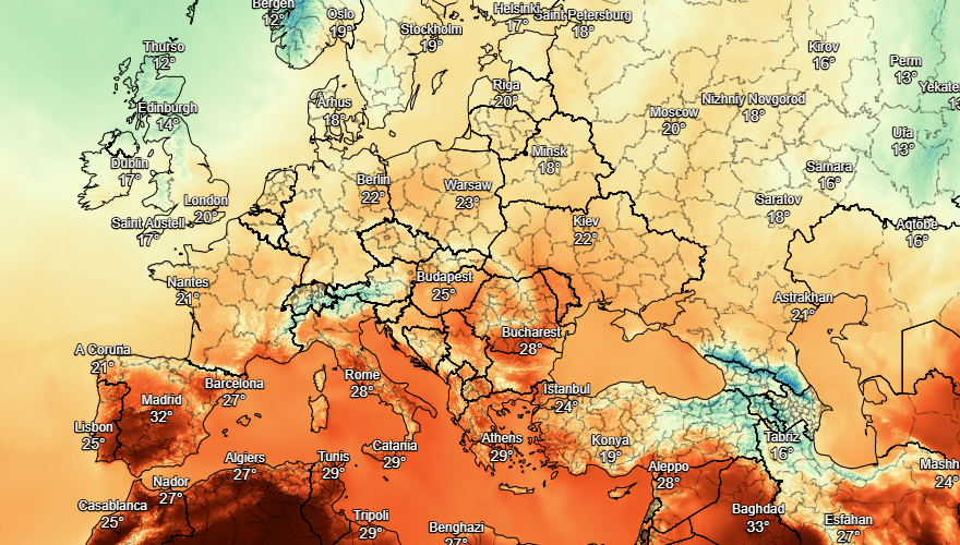 UK and Europe weather forecast latest, August 24: Map turns blue with plunging temperatures in the UK