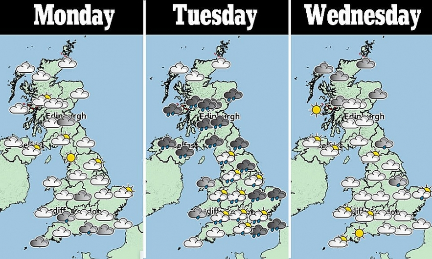 UK and Europe weather forecast latest, August 25: Warnings for Storm Francis to battle UK with 70 mph gusts