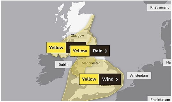 UK and Europe weather forecast latest, August 26: Yellow warnings as Storm Francis heads to new parts of UK