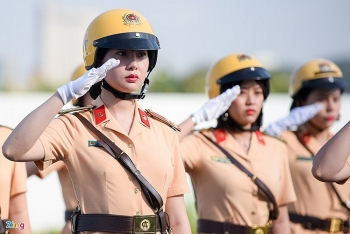 first all women police escort makes debut in ho chi minh city
