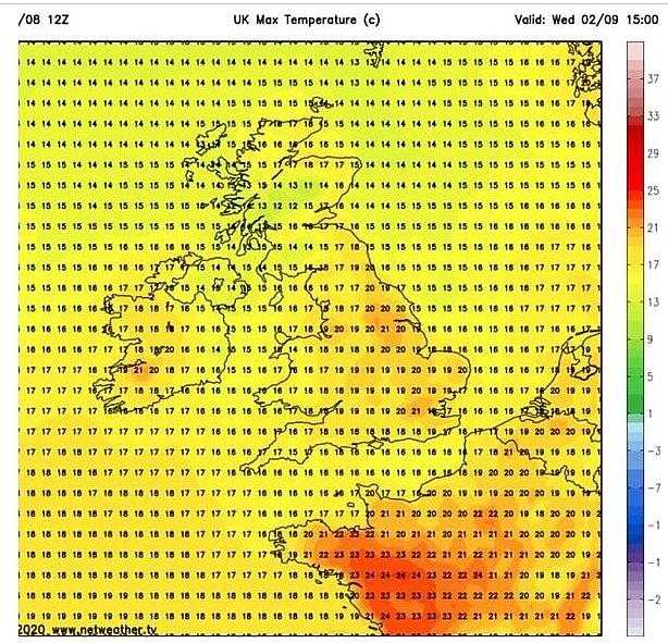 uk and europe weather forecast latest september 1 hot weather returns to bake uk in days