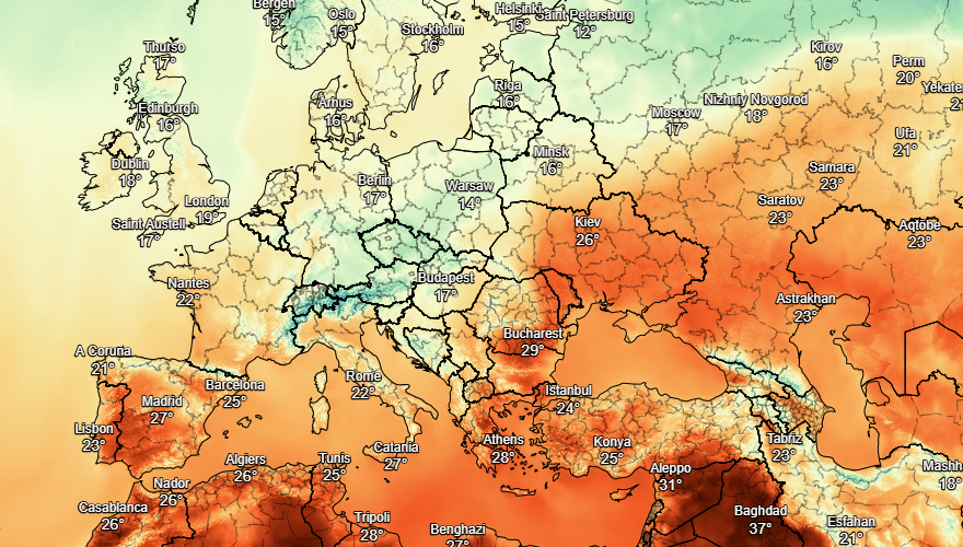 UK and Europe weather forecast latest, September 2: Torrential downpour in UK makes the map turn WHITE
