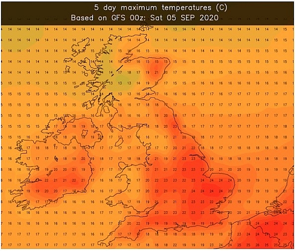 UK and Europe weather forecast latest, September 6: Balmy 24C hit UK after a scorching summer