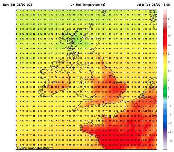 uk and europe weather forecast latest september 6 balmy 24c hit uk after a scorching summer