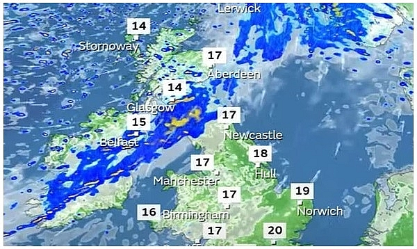 UK and Europe weather forecast latest, September 11: Wet and windy weather to cover many parts of Europe