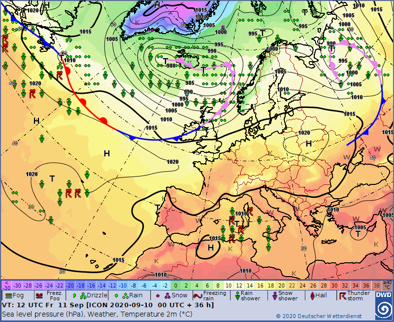 UK and europe weather forecast latest, september 11: wet windy to cover many parts of europe