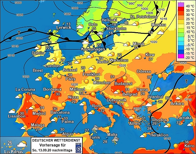 UK and Europe weather forecast latest, September 13: 31C heatwave to bake Britain final time
