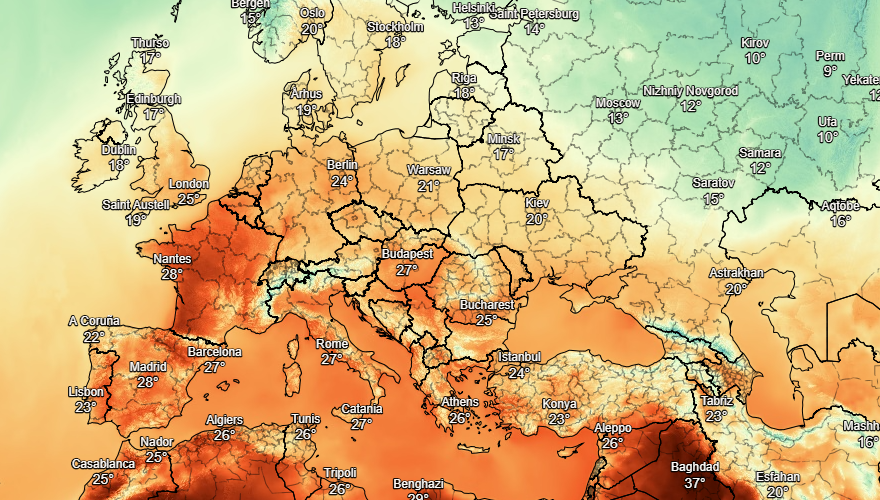 uk and europe weather forecast latest september 15 britain to go through a two day heatwave with 30c temperature