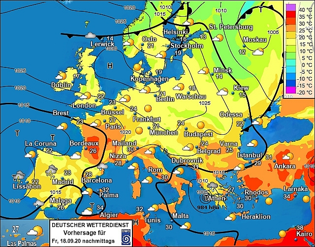 UK and Europe weather forecast latest, September 18:  Thunderstorms bring intensive winds and flooding to sweep Europe