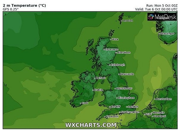 uk and europe weather forecast latest october 6 more wet and windy weather ahead of a potentially dangerous atlantic storm