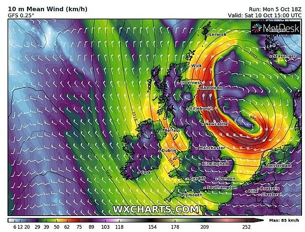 UK and Europe weather forecast latest, October 7: A storm causes torrential rain and unsettled conditions for Britain