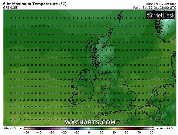 uk and europe weather forecast latest october 17 cold temperatures to cover britain with dry weekend