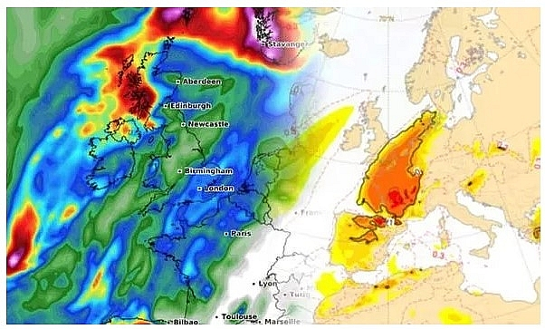 UK and Europe weather forecast latest, October 21: Storm Barbara threats Britain with strong winds and torrential rain.
