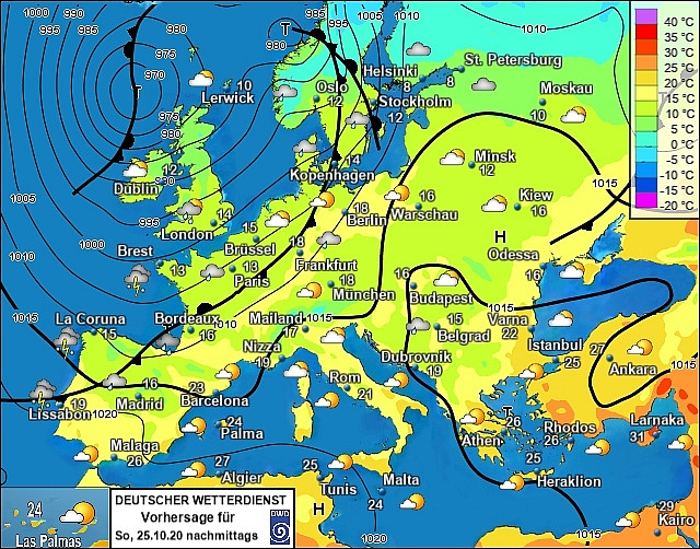 UK and Europe weather forecast latest, October 25: Intense rainfall and gusts associated with bad weather heading to north east of the UK