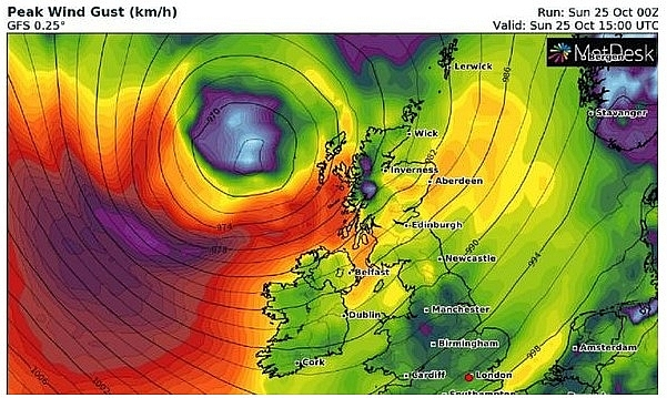 UK and Europe weather forecast latest, October 26: Thunderstorms and hail set to batter the UK with wet and windy weather continue next week
