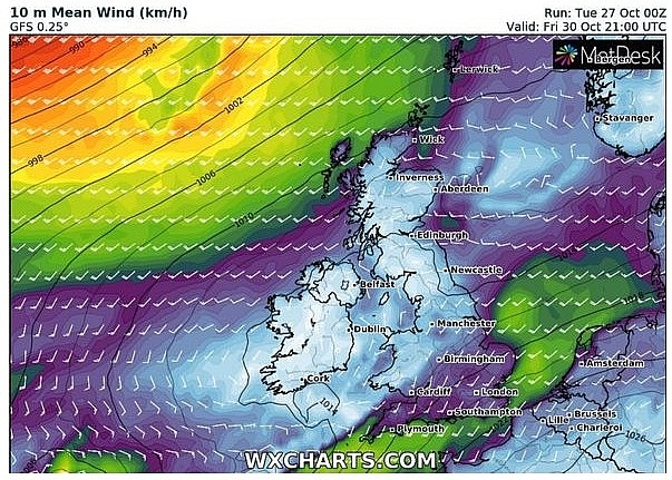 UK and Europe weather forecast latest, October 28: Flood warning issued as torrential rainfall batter Britain