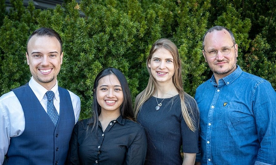AnalysisMode team from left to right: Tiago Sampaio, Mia (Minh Anh) Le, Milda Dapkeviciute and Teppo Hudsson. Photo: Jonas Simberg.